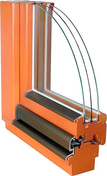 Profil dřevěného okna IV78