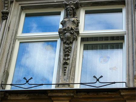 špaletová dřevěná okna